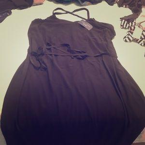 New look strappy back midi dress